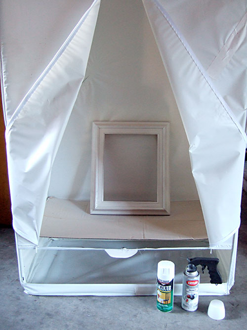 DIY Spray-Painting Tent