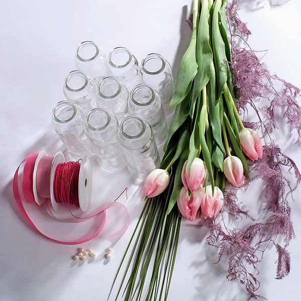 Diy Spring Rose Tulips Centerpiece