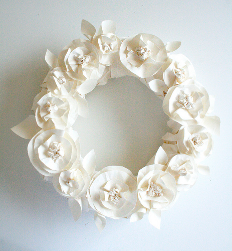 Diy Spring Wreath Of Butchen Paper
