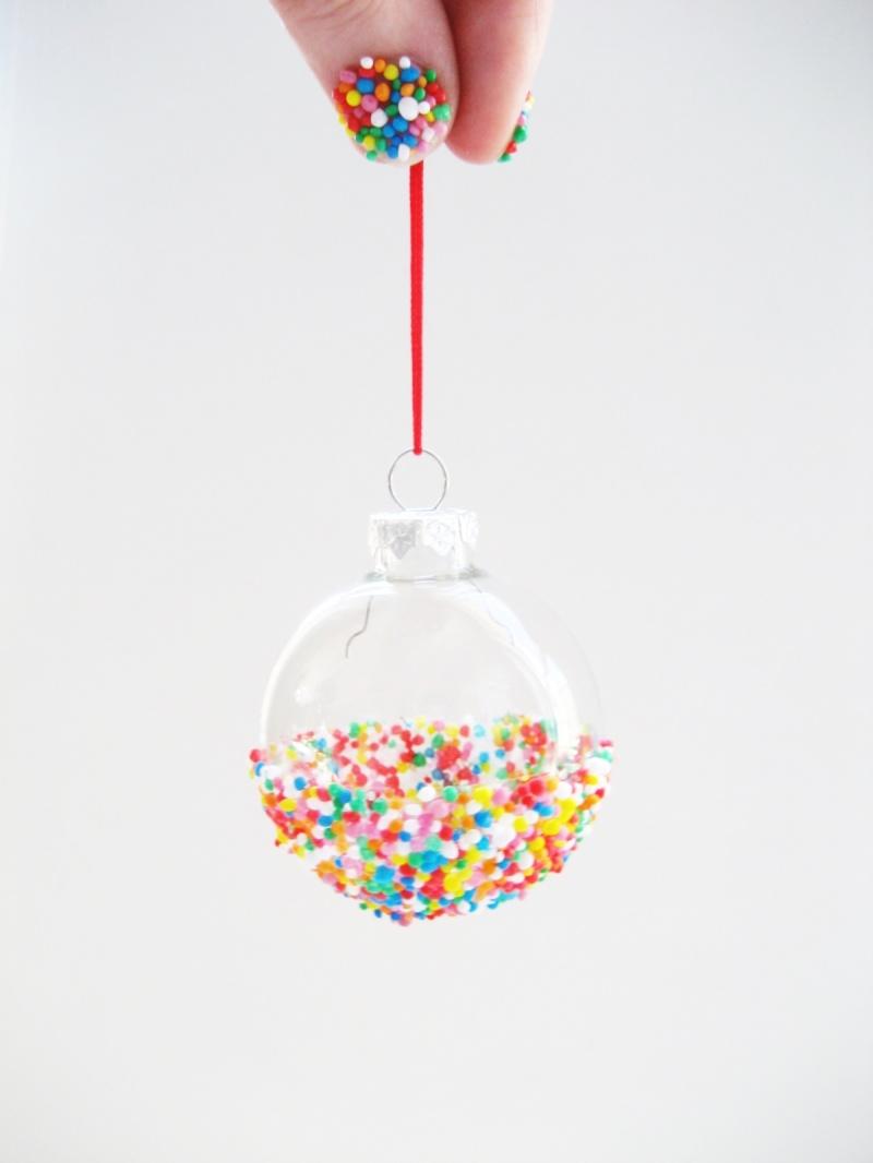 half sprinkled ornaments