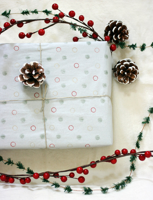 Diy Stamped Wrapping Paper For New Year Gifts