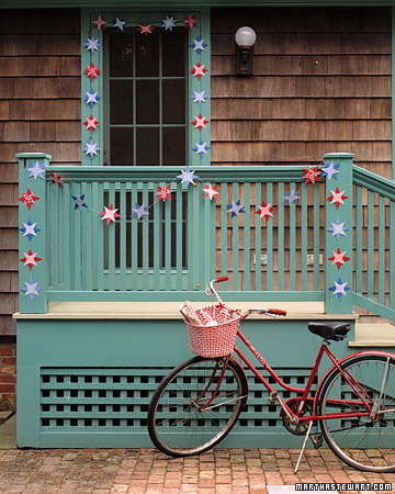 DIY Star Garland In Nation Colors