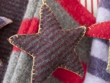 Felt star ornament