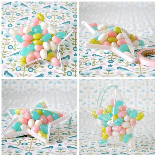 Candy filled stars