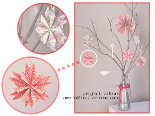 Paper dahlia Christmas star (via whitefishandthingsblog)