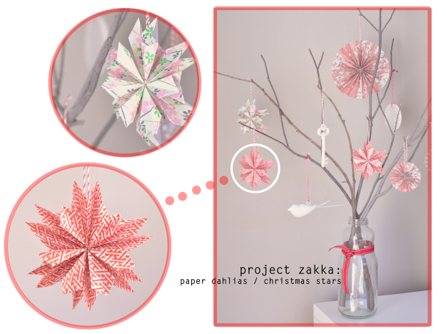 Paper dahlia Christmas star