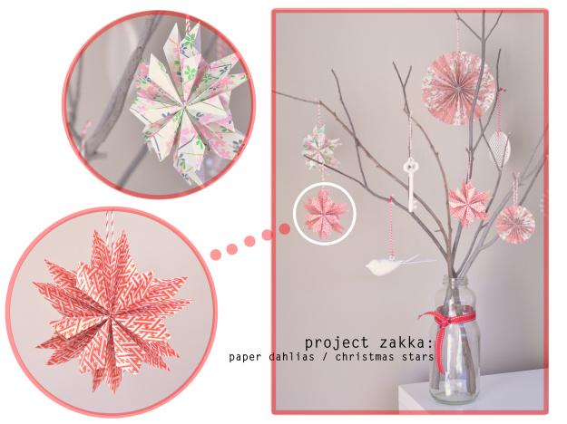 Diy star ornaments for your christmas d 233 cor 187 paper dahlia christmas