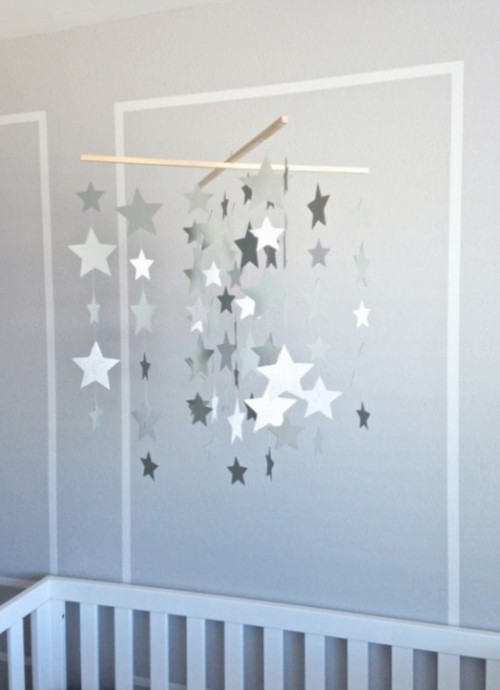 13 Diy Star Sun And Cloud Inspired Baby Mobiles Shelterness