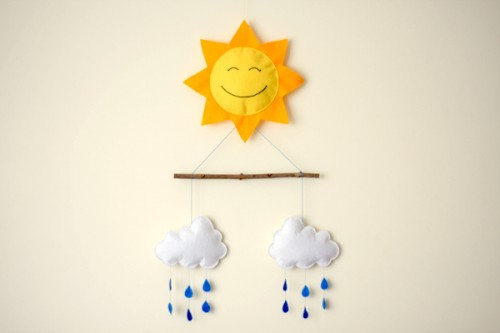 sunny felt mobile (via thingsforboys)