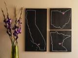 chalkboard state wall art