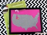 glitter state map art
