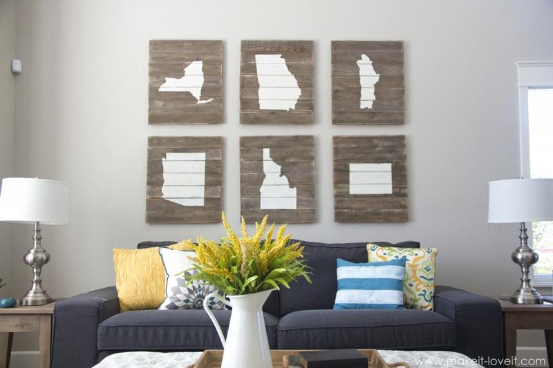 wood board state art