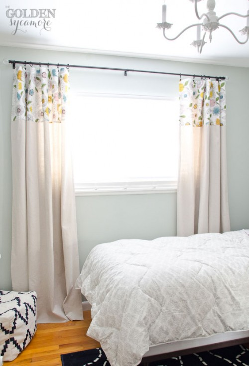 no sew drop cloth curtains (via thegoldensycamore)