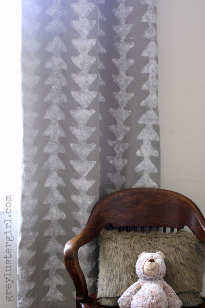 arrow stenciled curtains