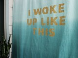 statement shower curtain