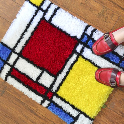 color blocked rug
