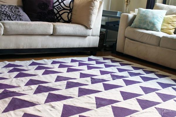 drop cloth rug