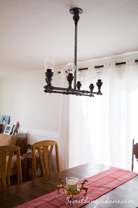 Diy Steel Pipe Chandelier & Industrial DIY Steel Pipe Chandelier - Shelterness