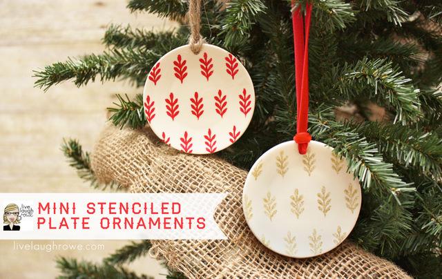 Diy Stenciled Plate Ornaments