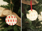 Diy Stenciled Plate Ornaments