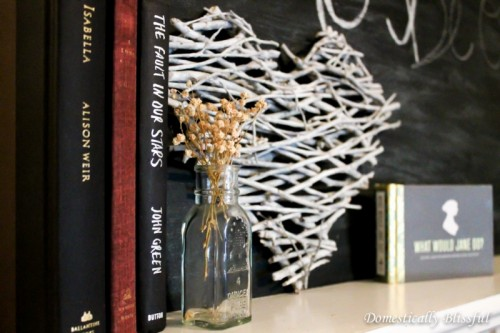 DIY Stick Heart For Valentine's Day Decor