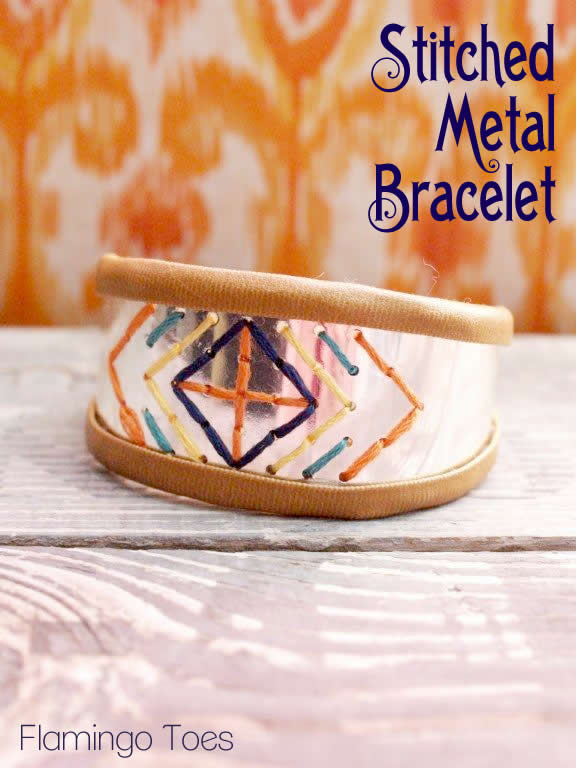 Picture Of Diy Stitched Metal Bracelet