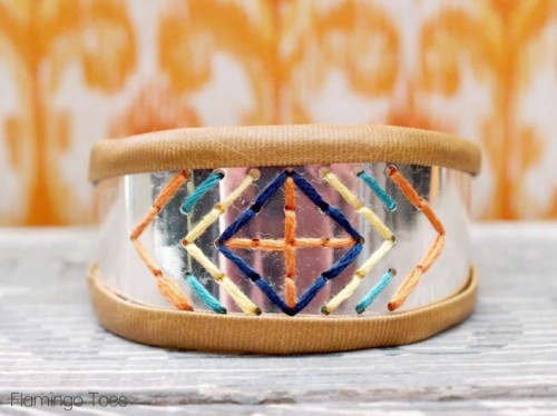 DIY Stitched Metal BraceletShelterness