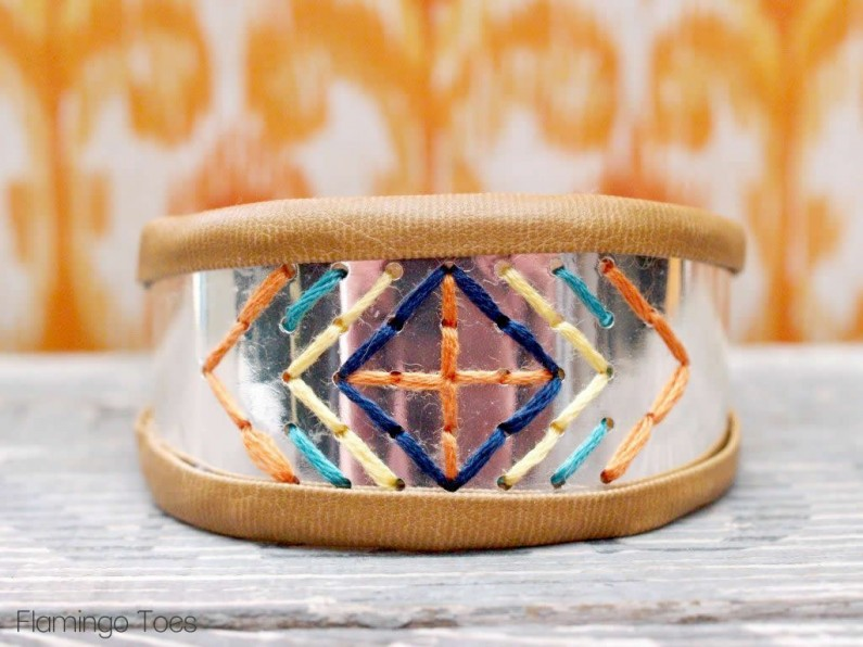 Diy Stitched Metal Bracelet