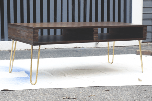 Diy Storage Coffee Table With Hairpin Legs