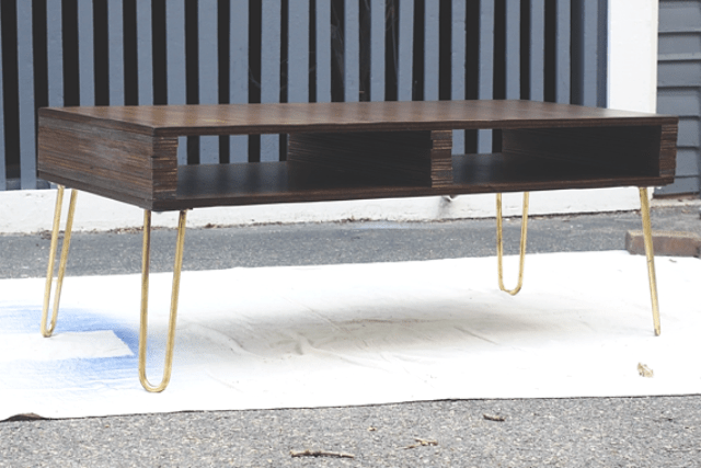 Picture Of diy storage coffee table with hairpin legs  10