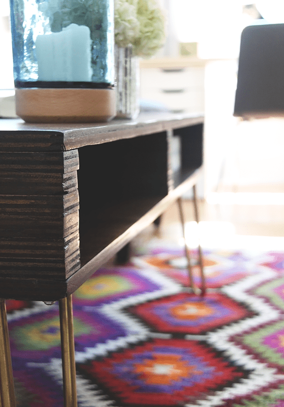 Picture Of diy storage coffee table with hairpin legs  11