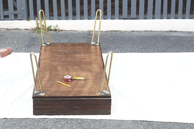 Picture Of diy storage coffee table with hairpin legs  8