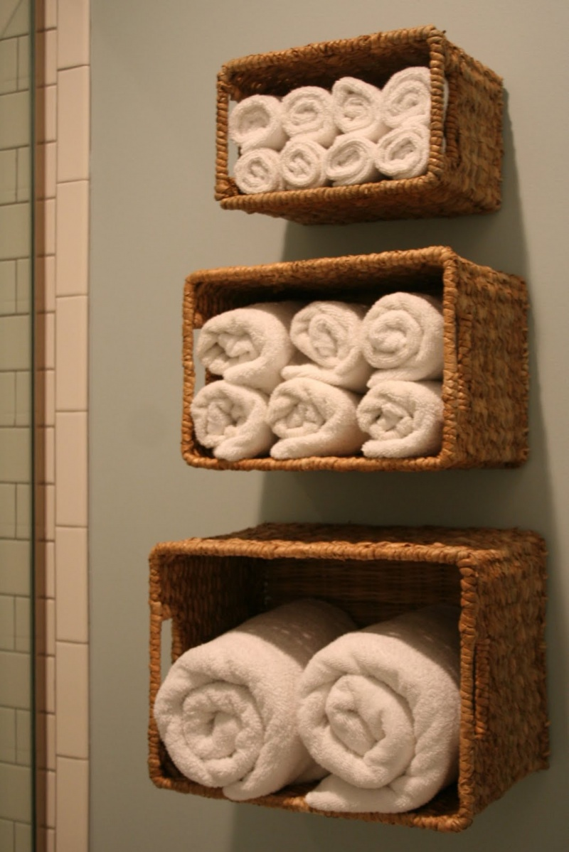 Diy storage for bathroom linen 1