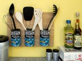 Diy Storage Made Of Recycled Cans