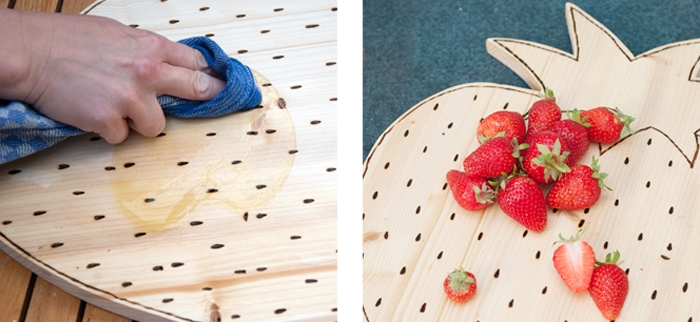 Picture Of diy strawberry shaped cutting board  5
