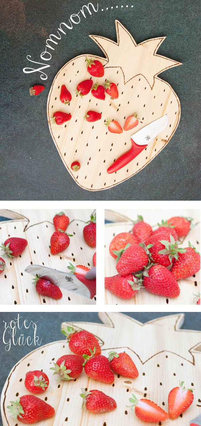 Picture Of diy strawberry shaped cutting board  7