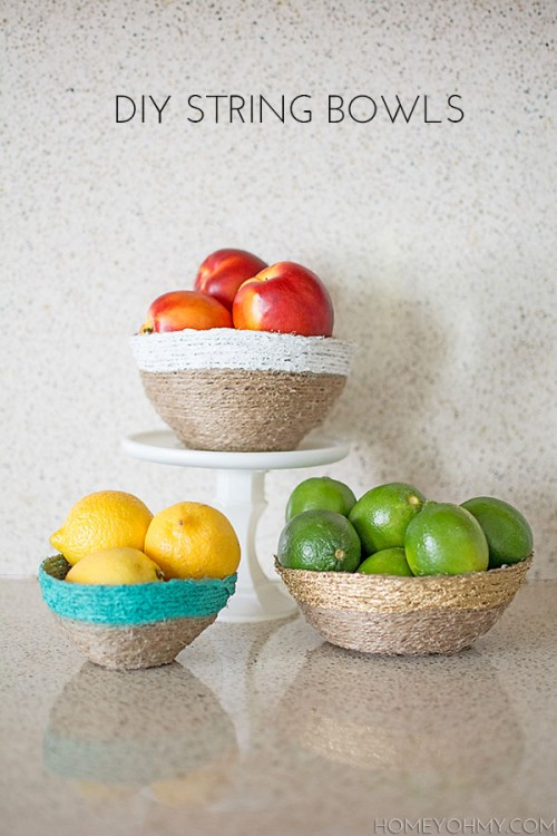 DIY String Bowl For Home Decor