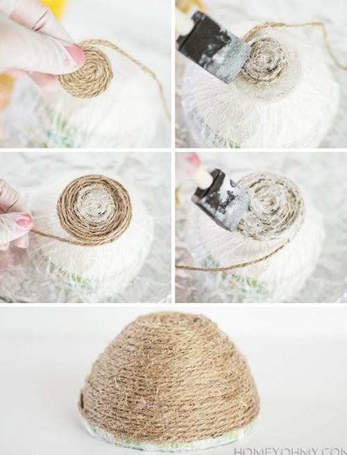 Diy String Bowl For Home Decor