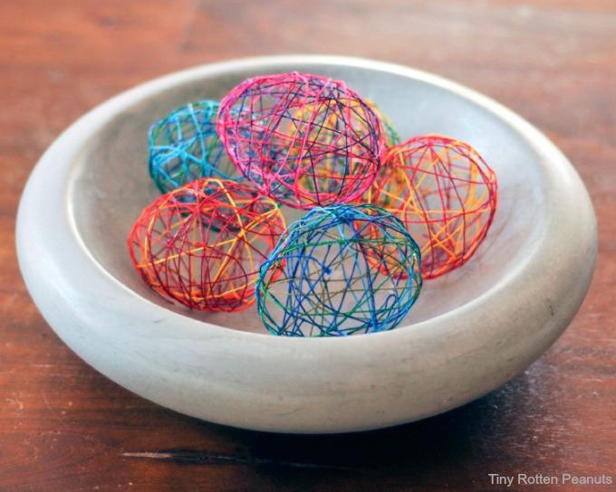 Diy String Easter Eggs For Decor