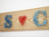 LOVE string nail art
