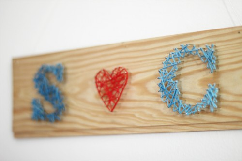 LOVE string nail art (via look-what-i-made)