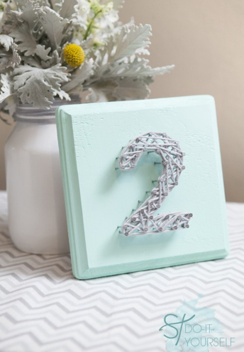 sting nail art table numbers (via somethingturquoise)
