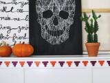 skull string art