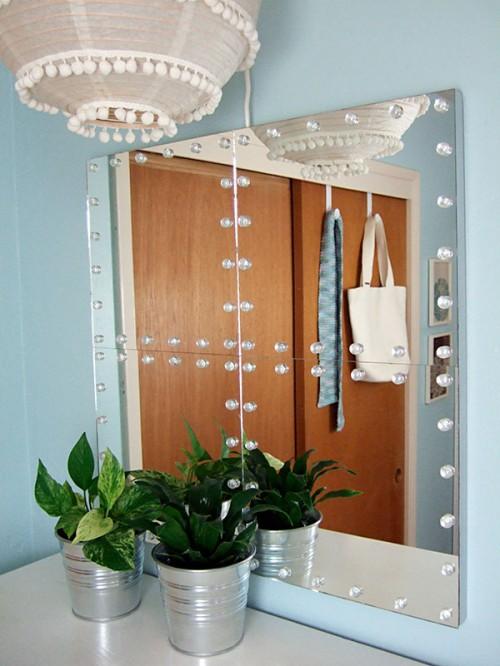DIY Studded Tile Mirror