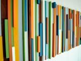 Diy Stylish And Modern Painted Wood Wall Art