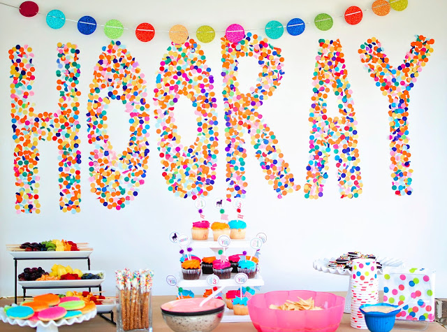 confetti party backdrop
