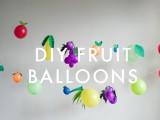 fruit balloons banner