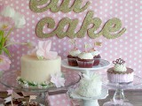 eat cake party banner