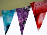 melted crayon banner