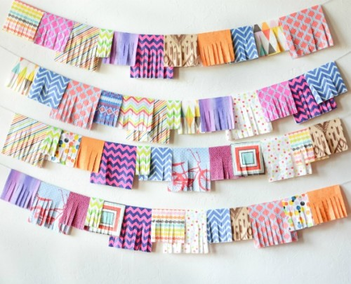 colorful napkin garland (via jacksandkate)